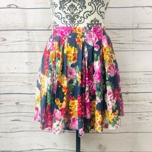 Brandy Melville Floral Mini Skirt Made in Italy OS